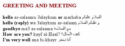 Greetings & Meetings